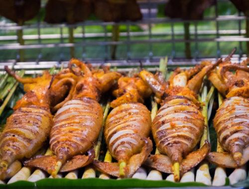 Фаршированные тушки кальмаров