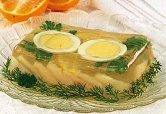 Морские гребешки с соком лайма в желе