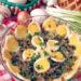 Грибы с яйцами и сыром