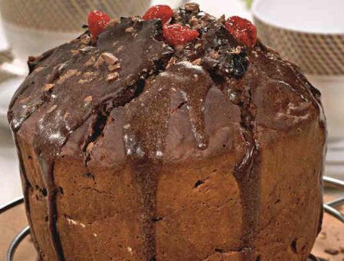 Творожный кулич с шоколадной глазурью