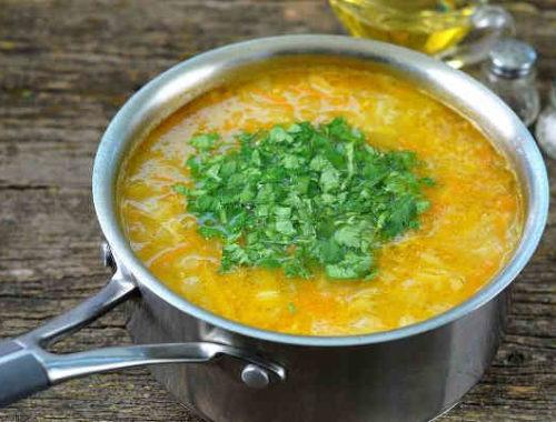 Луковый суп с капустой