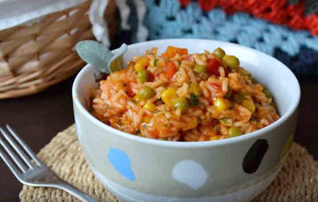 Мексиканский рис с бобами
