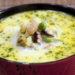 Молочный суп с морепродуктами