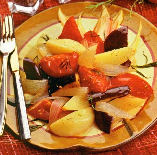 Рагу из овощей с тимьяном и эстрагоном