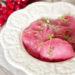 Розовые домашние пельмени с творогом и зеленью