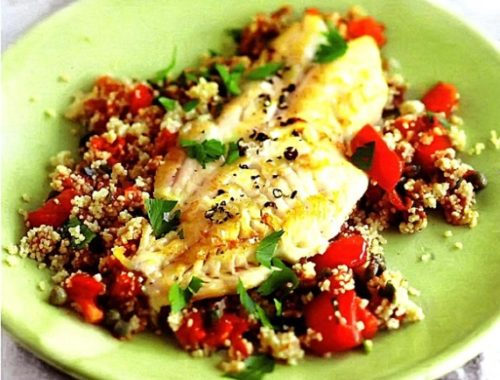 Рыбное филе с кускусом