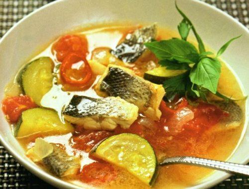 Рыбный суп с цуккини