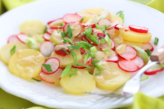 картофель с редисом