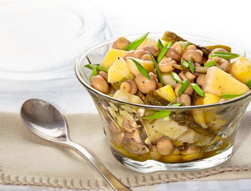 Салат из шампиньонов и картофеля