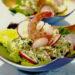 Салат с творогом, креветками и редисом «Весенний коктейль»Салат с творогом, креветками и редисом «Весенний коктейль»