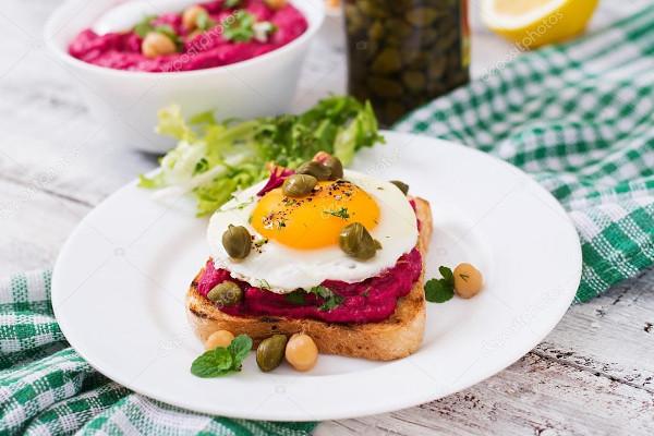 Закуска со свеклой и яйцом