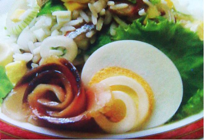 Салат из сельди с рисом