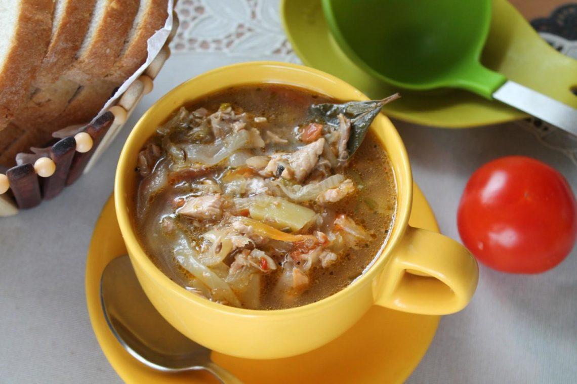 Рыбные щи с квашеной капустой