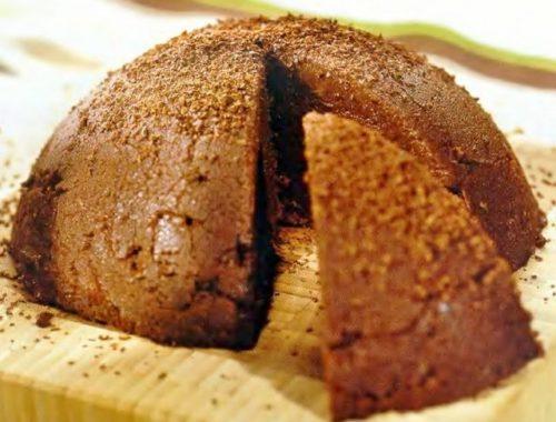 Шоколадный пудинг из манки