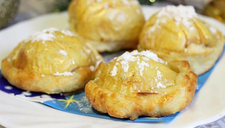Тарталетки с начинкой из яблок