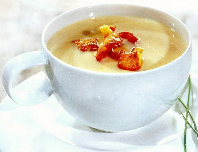 Рыбный крем-суп с креветками