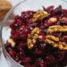 Сырая свекла с орехами и чесноком