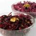 Салат из сырой свеклы с орехами и чесноком