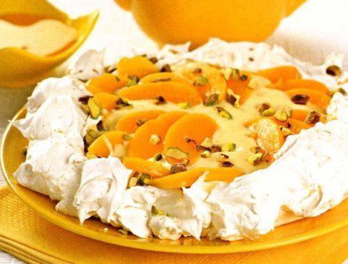 "Торт ""Павлова"" с абрикосами"