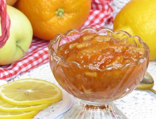 Варенье из яблок с апельсинами