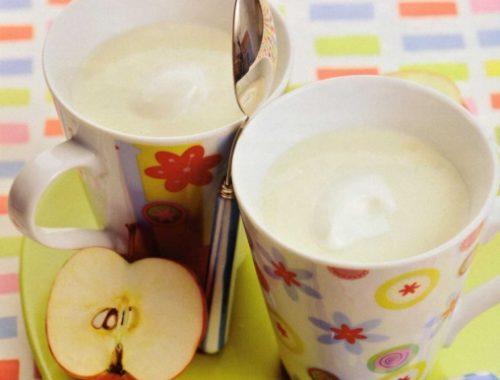Яблочно-молочный кисель
