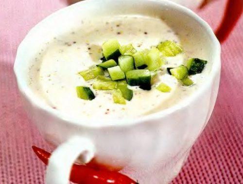 Йогуртовый вкусный суп с огурцом
